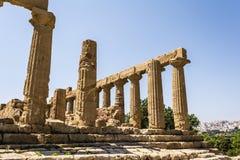 Altgriechischer Tempel von Juno God, Agrigent, Sizilien, Italien Lizenzfreies Stockbild
