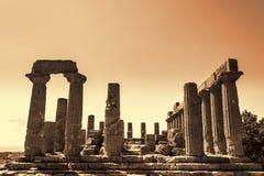 Altgriechischer Tempel von Juno God, Agrigent, Sizilien, Italien Lizenzfreie Stockfotos