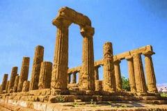 Altgriechischer Tempel von Juno God, Agrigent, Sizilien, Italien Lizenzfreie Stockfotografie