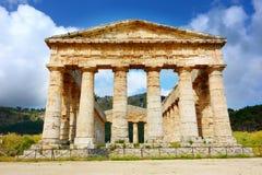 Altgriechischer Tempel von Segesta, Sizilien, Italien Stockfotografie
