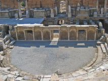 Altgriechisches Theater im Hierapolis 2 Stockfotos