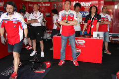 Althea Racing. Ducati 1098R Althea Racing team in the world Superbike Championship SBK Stock Photography
