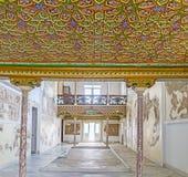 In Althiburos Room. TUNIS, TUNISIA - SEPTEMBER 2, 2015: The colorful decor of the ceiling in Althiburos Room of Bardo National Museum, on September 2 in Tunis Stock Photo