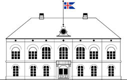 Althing parlament i Reykjavik, Island Royaltyfri Illustrationer