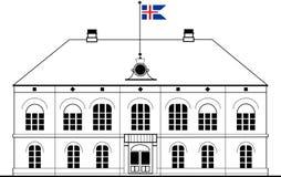 Althing parlament i Reykjavik, Island Arkivfoton