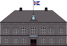 Althing parlament i Reykjavik, Island Vektor Illustrationer