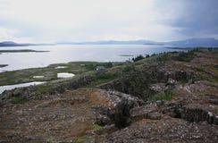althingi terenu sławny pierwszy Iceland pierwszy lokaci parlamentu thingvellir świat Obraz Stock