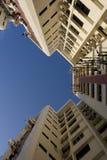 Alti appartamenti dell'edilizia popolare di aumento a Singapore Fotografia Stock