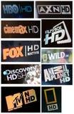 Alti canali televisivi di definizione Fotografia Stock