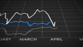 Alti e bassi del calendario del mercato azionario stock footage
