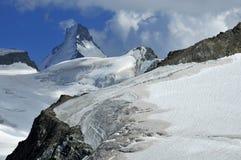 Alti sommità e ghiacciai Fotografie Stock