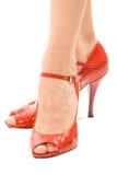 Alti talloni rossi Fotografia Stock Libera da Diritti