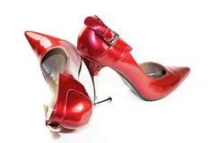 Alti talloni rossi eleganti Immagine Stock
