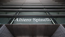 Altiero Spinelli de bouw - het Europees Parlement Royalty-vrije Stock Foto