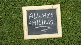 Altijd glimlachend Stock Foto