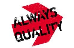 Altijd Kwaliteits rubberzegel Stock Foto
