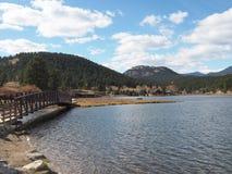 Altijdgroen Meer in Altijdgroen, Colorado stock afbeeldingen