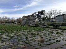 Altilia - Roman Forum. Altilia, Sepino, Campobasso, Molise, Italy - 8 March 2018: Remains of the square of the small Roman city of Samnite origins built along royalty free stock photos