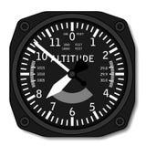 Altimètre d'avion d'aviation Photographie stock