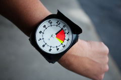 Altimeter. On the parachutist's hand Stock Photography