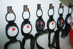 Altimeters wall Stock Image
