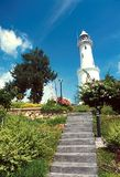 Altingsburg lighthouse. Century old Altingsburg light house with blue sky and white clouds situated in Bukit Melawati Historical Hill in Kuala Selangor, Malaysia Stock Photo