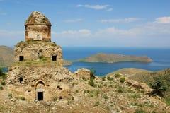 Altinsac church. Ruins of Altinsac Church on Lake Van, Turkey Stock Images