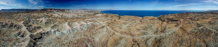 Altiplanicie de Sierra Guadalupe en panorama del paisaje de Baja California foto de archivo