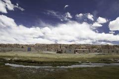 altiplano玻利维亚荒废村庄 库存照片