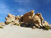altiplano玻利维亚de rocas瓦尔 免版税库存图片