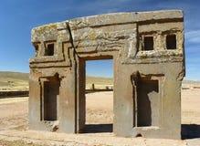 altiplano玻利维亚tiwanaku 免版税库存图片