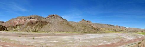 Altiplano ökendal Royaltyfria Bilder