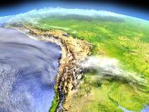 Altiplano από το διάστημα Στοκ Εικόνες