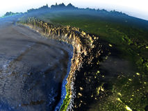 Altiplano στη γη - ορατός ωκεανός Στοκ φωτογραφία με δικαίωμα ελεύθερης χρήσης