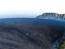 Altiplano στις Άνδεις στη γη - ορατός ωκεανός Στοκ Εικόνα