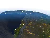 Altiplano στις Άνδεις τη νύχτα στο πλανήτη Γη Στοκ εικόνες με δικαίωμα ελεύθερης χρήσης