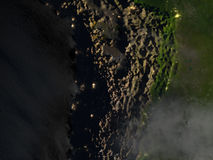 Altiplano στις Άνδεις τη νύχτα στο πλανήτη Γη Στοκ εικόνα με δικαίωμα ελεύθερης χρήσης