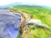 Altiplano στο ρεαλιστικό πρότυπο της γης Στοκ Εικόνες