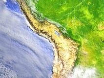 Altiplano στο ρεαλιστικό πρότυπο της γης Στοκ εικόνα με δικαίωμα ελεύθερης χρήσης