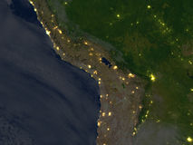 Altiplano τη νύχτα στο πλανήτη Γη Στοκ Εικόνες