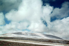 Altiplano. Many clouds and many mountains Royalty Free Stock Photos