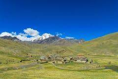 Altiplano bergby Fotografering för Bildbyråer