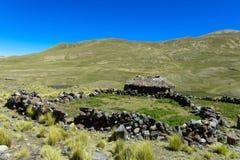 Altiplano bergby Arkivfoton