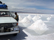 Salar de Uyuni, Bolívia Fotos de Stock