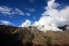 Altiplano clouds. Many clouds and many mountains Royalty Free Stock Photo