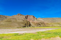 Altiplano desert arid landscape. On road from Argentina to Chile Stock Images