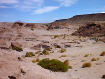 Altiplano desert with colorful rock formations Royalty Free Stock Photography