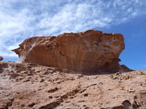 Altiplano desert with colorful rock formations Stock Photos