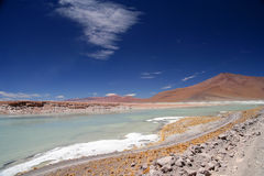 Altiplano hot springs Stock Photos