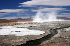 Altiplano hot springs Royalty Free Stock Images